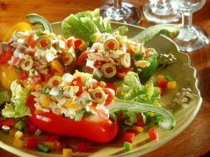 Paprika mit Thunfischfüllung Rezept