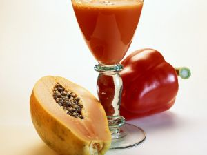 Paprika-Papaya-Shake Rezept