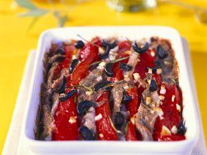 Paprika-Sardellen-Gratin Rezept