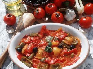 Paprikagemüse auf italienische Art Rezept