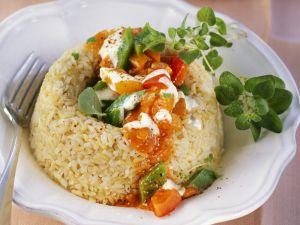 Paprikagemüse mit Reis Rezept