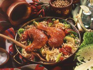 Paprikahähnchen auf Reis Rezept