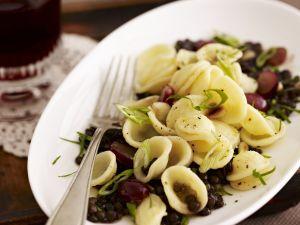 Pasta mit Balsamico-Linsen-Gemüse Rezept