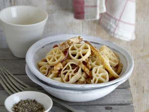 Pasta mit Birne und Walnüssen Rezept