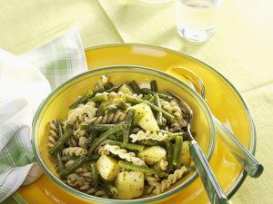 Pasta mit Bohnen und Kartoffeln Rezept