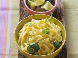 Pasta mit Curry-Kokos-Sauce Rezept
