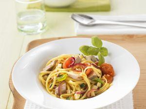 Pasta mit Gemüse und Thunfisch Rezept