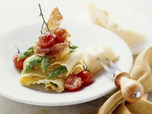 Pasta mit grünem Spargel Rezept
