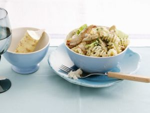 Pasta mit Hähnchen, Porree und Meerrettich Rezept