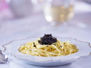 Pasta mit Kaviar Rezept