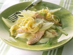 Pasta mit Lachs und Fenchel Rezept