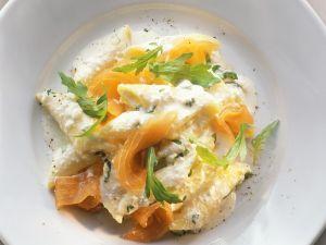 Pasta mit Lachs und Ricotta-Orangensauce Rezept