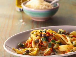 Pasta mit Linsen und Kapern Rezept