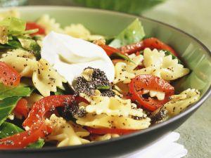 Pasta mit Mohn und Gemüse Rezept