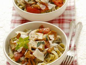 Pasta mit Pilz-Tomaten-Sugo Rezept