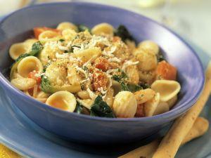Pasta mit Rucola und Tomaten Rezept