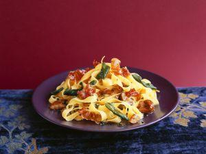 Pasta mit Schinken und Maroni Rezept
