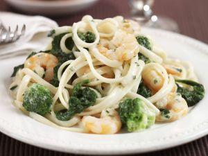 Pasta mit Shrimps und Brokkoli Rezept