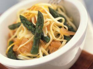 Pasta mit Spargel und Lachs Rezept