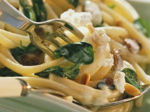 Pasta mit Spinat und Ricotta Rezept