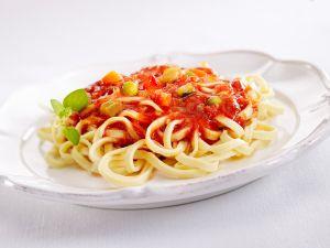 Pasta mit Zucchini und Tomaten Rezept