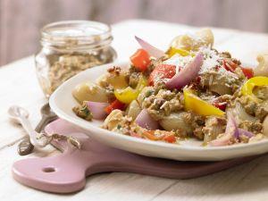 Pasta mit Walnuss-Tomaten-Pesto Rezept