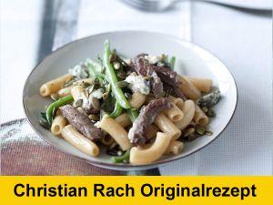 Sonntagsschmaus: Pasta mit Rindfleisch, Bohnen und Gorgonzola
