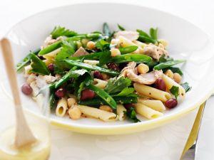 Pastasalat mit Petersilie und Bohnen Rezept