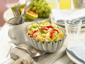 Pastasalat mit Shrimps Rezept