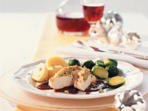 Perlhuhn mit Champignons und Balsamicosauce Rezept