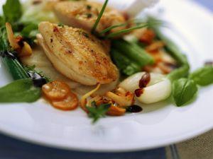 Perlhuhnbrust mit süßsaurem Gemüse Rezept