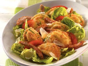 Pfannen Pasta Caesar's Salad Rezept