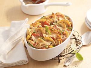 """Pfannen Pasta-Gemüse-Gratin """"Ratatouille"""" Rezept"""