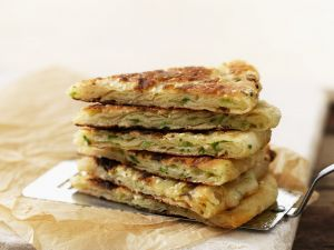 Pfannkuchen auf chinesische Art mit Lauchzwiebeln Rezept