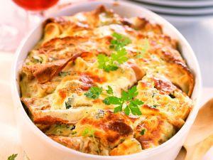 Sonntag: Pfannkuchenauflauf mit Gemüse