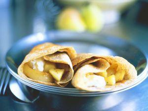 Pfannkuchen mit Birnenfüllung Rezept