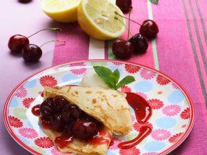 Pfannkuchen mit Kirschen Rezept