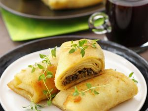 Pfannkuchen mit Pilzfüllung Rezept