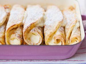Pfannkuchen mit Quarkfüllung Rezept