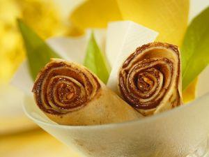 Pfannkuchen mit Schokocreme gefüllt Rezept