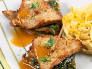 Piccata vom Kalbsschnitzel und Pesto Rezept