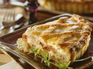 Pie mit Kassler und Sauerkraut Rezept