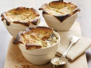Pie mit Lauch, Hähnchen und Champignons Rezept