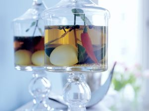 Pikant eingelegte Eier Rezept