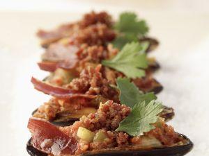 Pikant überbackene Muscheln Rezept
