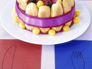 Pikante Charlotte mit Kartoffeln und roter Bete Rezept