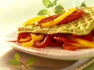 Pikante Waffeln mit Gemüse Rezept
