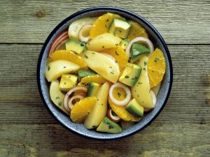Pikanter Fruchtsalat Rezept