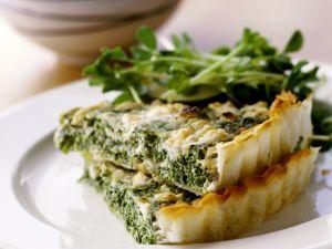 Pikanter Spinat-Feta-Kuchen Rezept