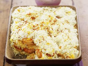 Pikantes Reisgratin auf indische Art Rezept